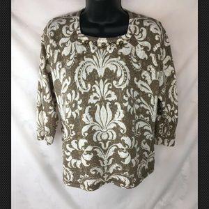 Womens Alfred Dunner Sweater Shirt Top PM